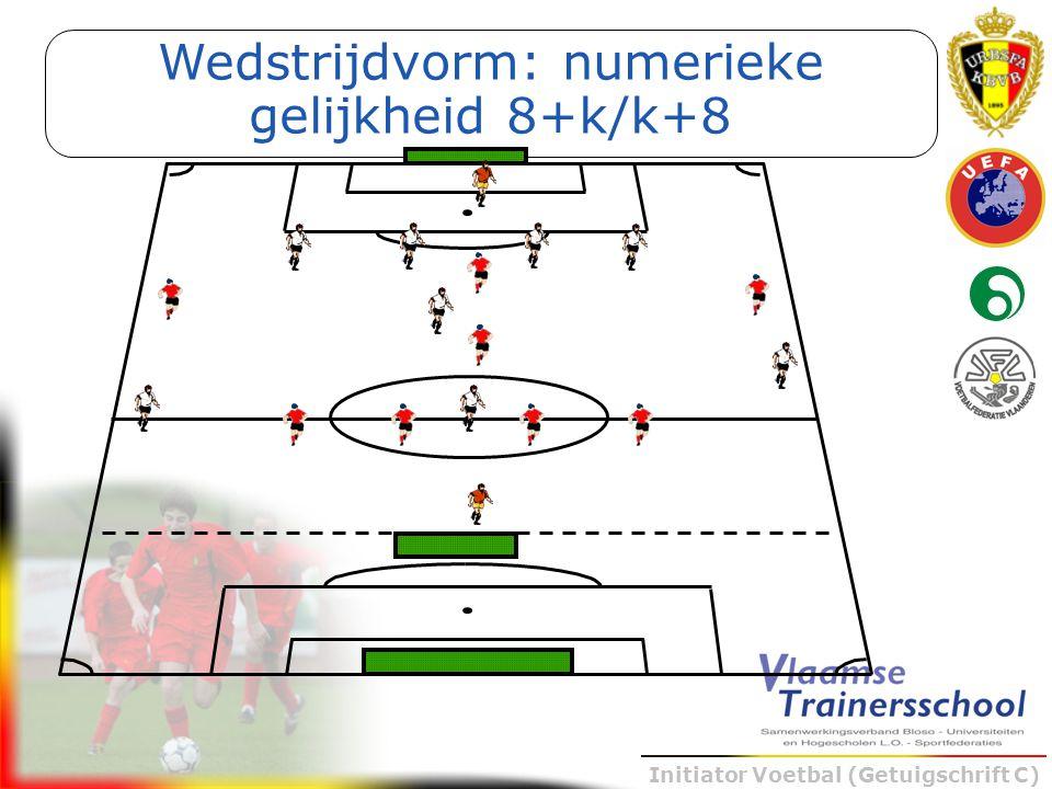 Initiator Voetbal (Getuigschrift C) Wedstrijdvorm: numerieke gelijkheid 8+k/k+8