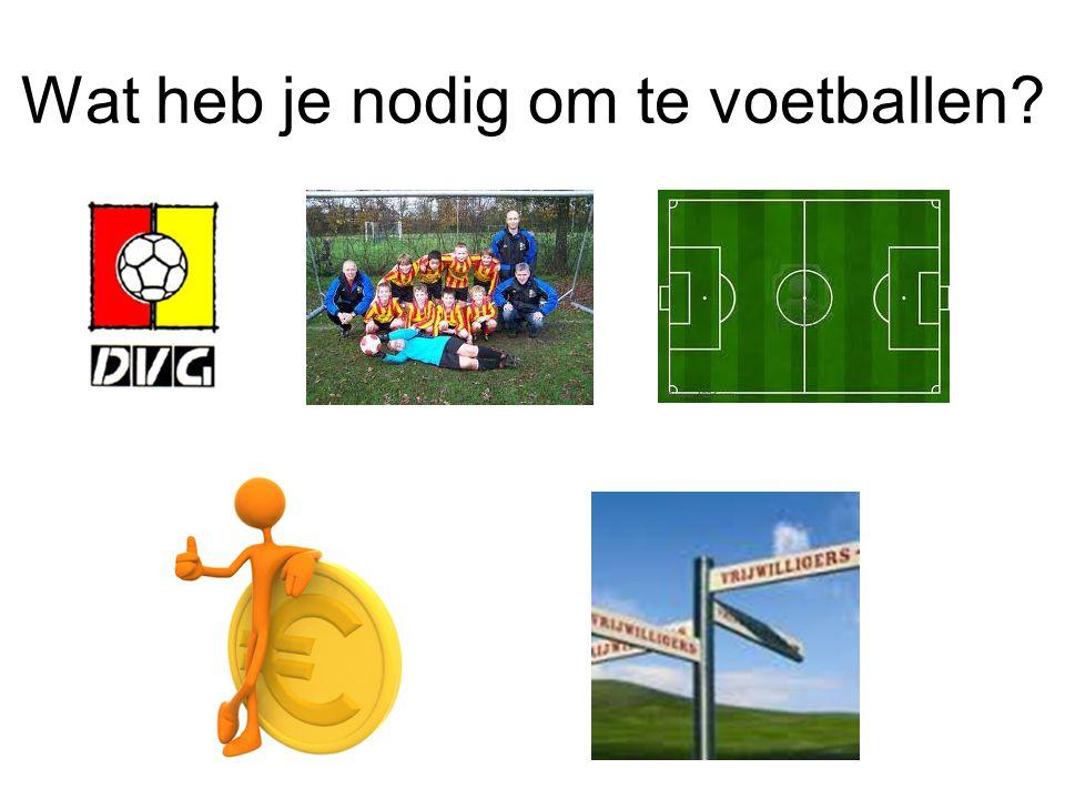 Wat heb je nodig om te voetballen?