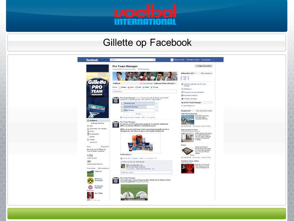 Gillette op Facebook
