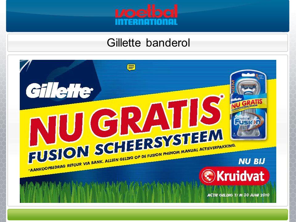 Gillette banderol