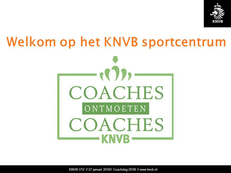 KNVB VTZ // 27 januari 2010// Coachdag 2010l // www.knvb.nl Welkom op het KNVB sportcentrum