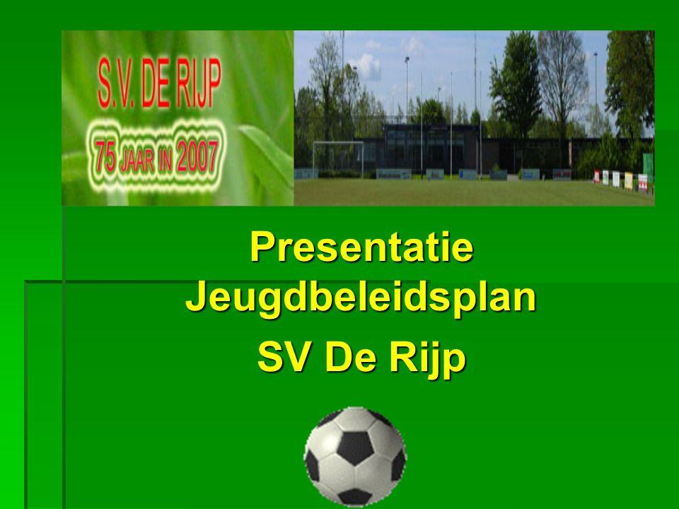 Presentatie Jeugdbeleidsplan SV De Rijp
