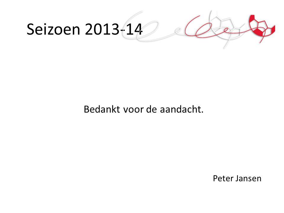 Bedankt voor de aandacht. Peter Jansen