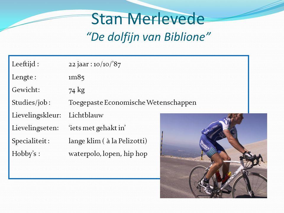 """Stan Merlevede """"De dolfijn van Biblione"""" Leeftijd : 22 jaar : 10/10/'87 Lengte :1m85 Gewicht: 74 kg Studies/job :Toegepaste Economische Wetenschappen"""