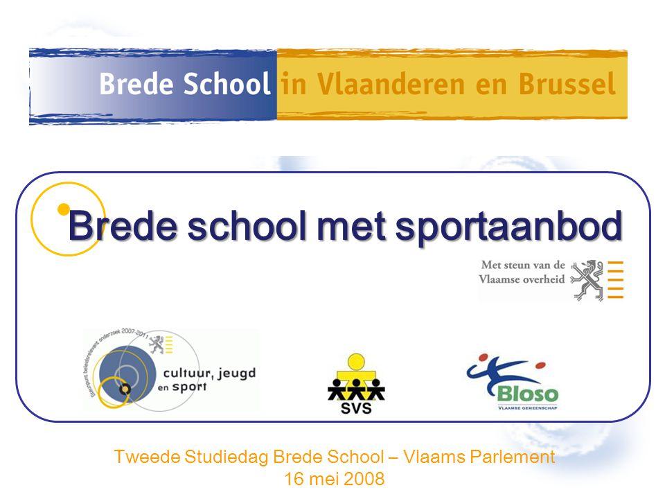Tweede Studiedag Brede School – Vlaams Parlement 16 mei 2008 Brede school met sportaanbod
