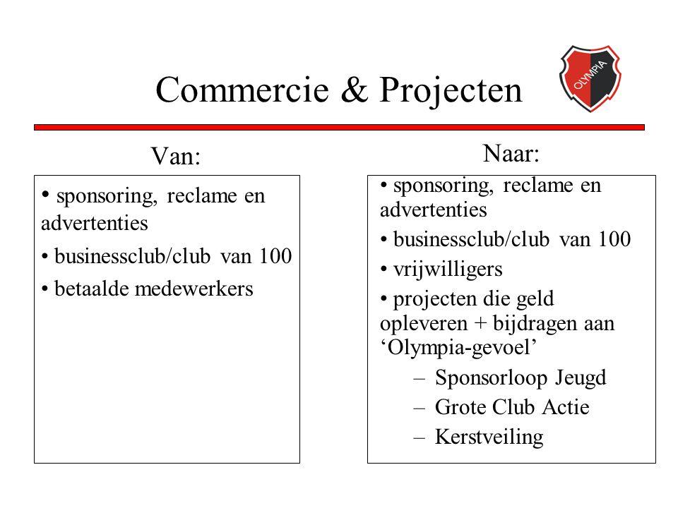 Commercie & Projecten Van: sponsoring, reclame en advertenties businessclub/club van 100 betaalde medewerkers Naar: sponsoring, reclame en advertentie