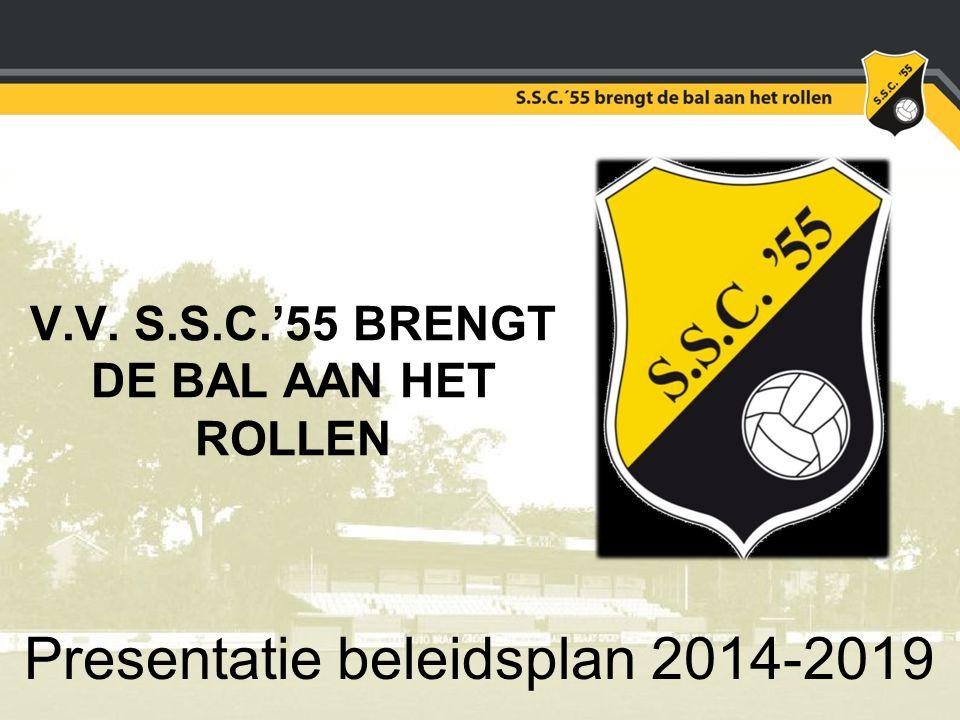 V.V. S.S.C.'55 BRENGT DE BAL AAN HET ROLLEN Presentatie beleidsplan 2014-2019