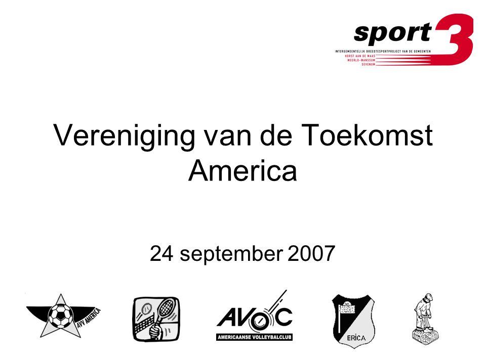 Vereniging van de Toekomst America 24 september 2007