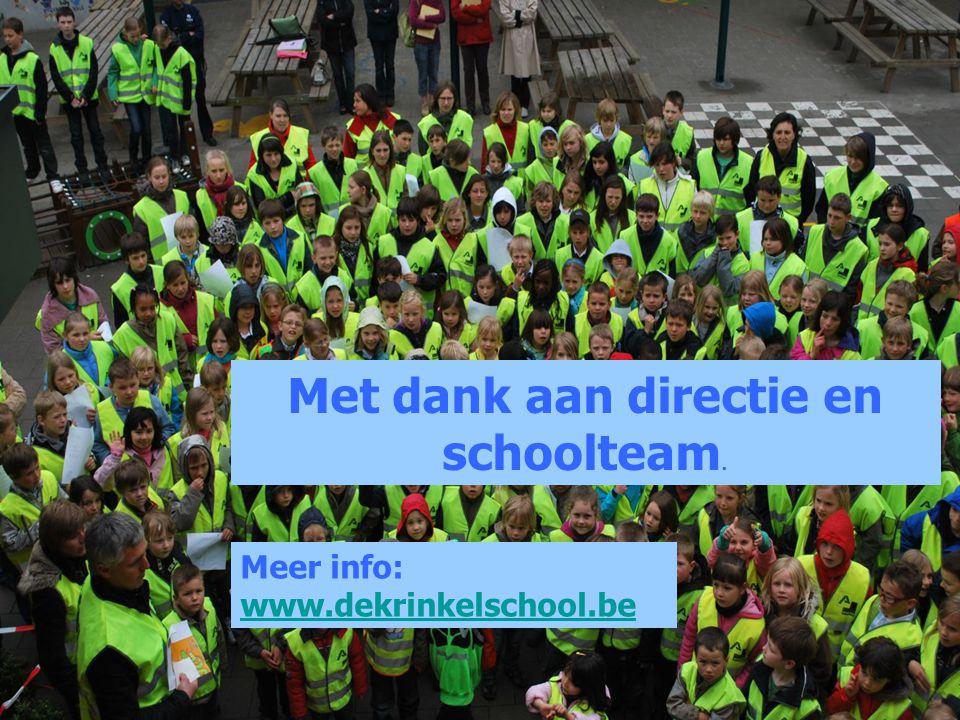 Meer info: www.dekrinkelschool.be Met dank aan directie en schoolteam.