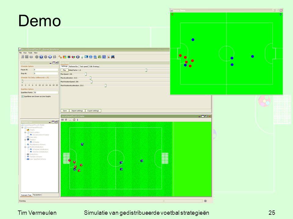 Tim VermeulenSimulatie van gedistribueerde voetbal strategieën25 Demo