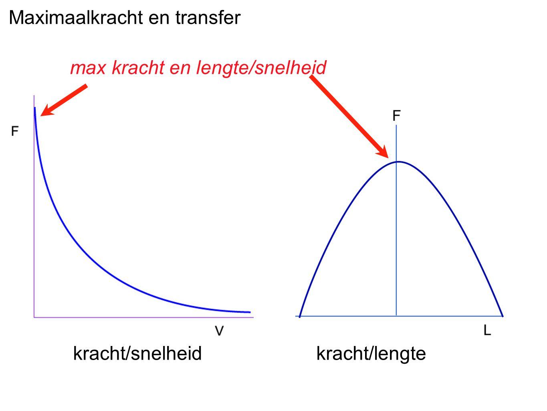 kracht/snelheid kracht/lengte max kracht en lengte/snelheid Maximaalkracht en transfer