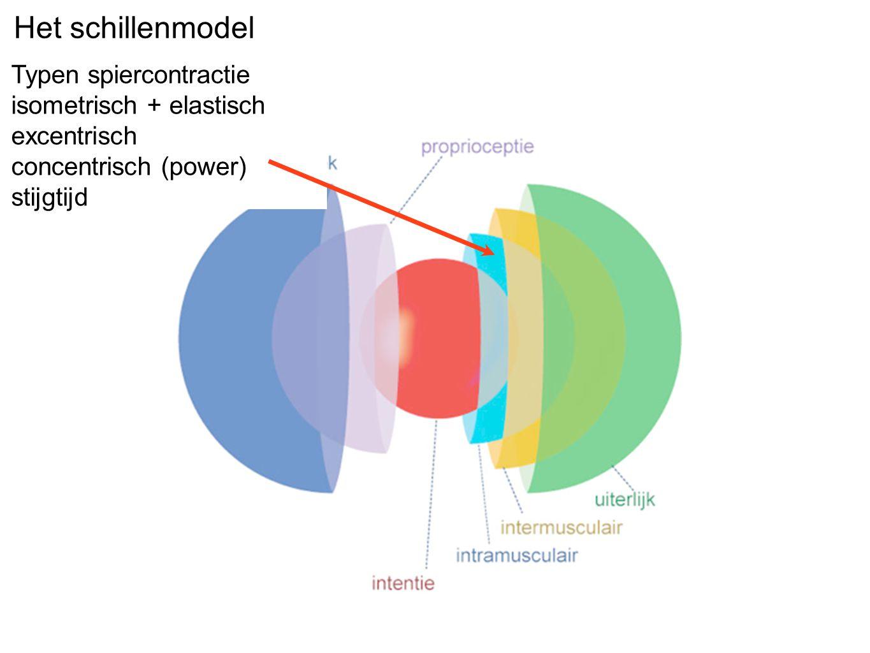 Wanneer de centrifuge langzaam draait (links, lage bewegingsintensiteit) kunnen de spieren buiten hun specialiteit werken.