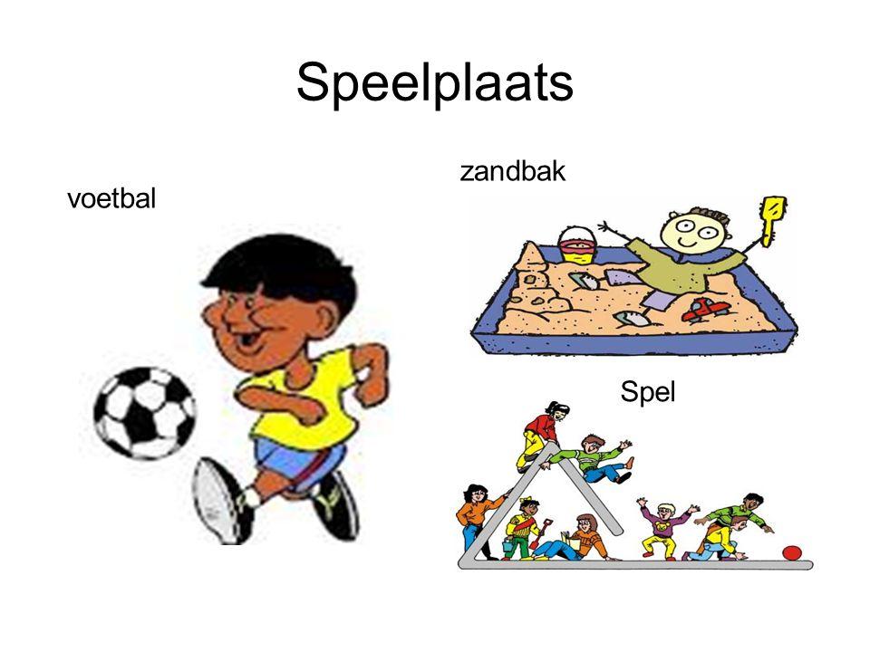Speelplaats zandbak voetbal Spel