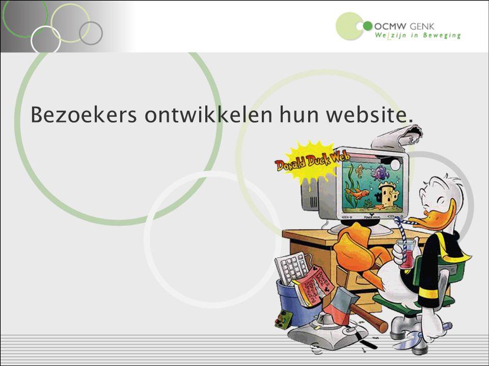 Bezoekers ontwikkelen hun website.