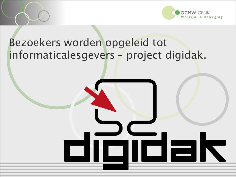 Bezoekers worden opgeleid tot informaticalesgevers – project digidak.