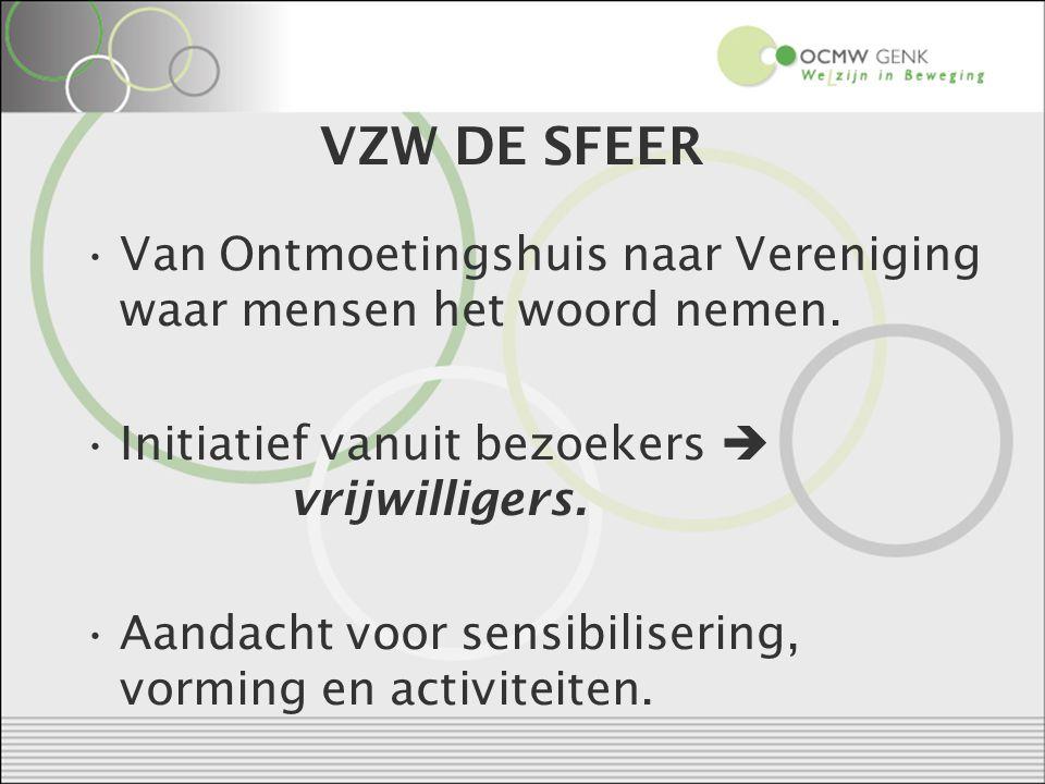 VZW DE SFEER Van Ontmoetingshuis naar Vereniging waar mensen het woord nemen.