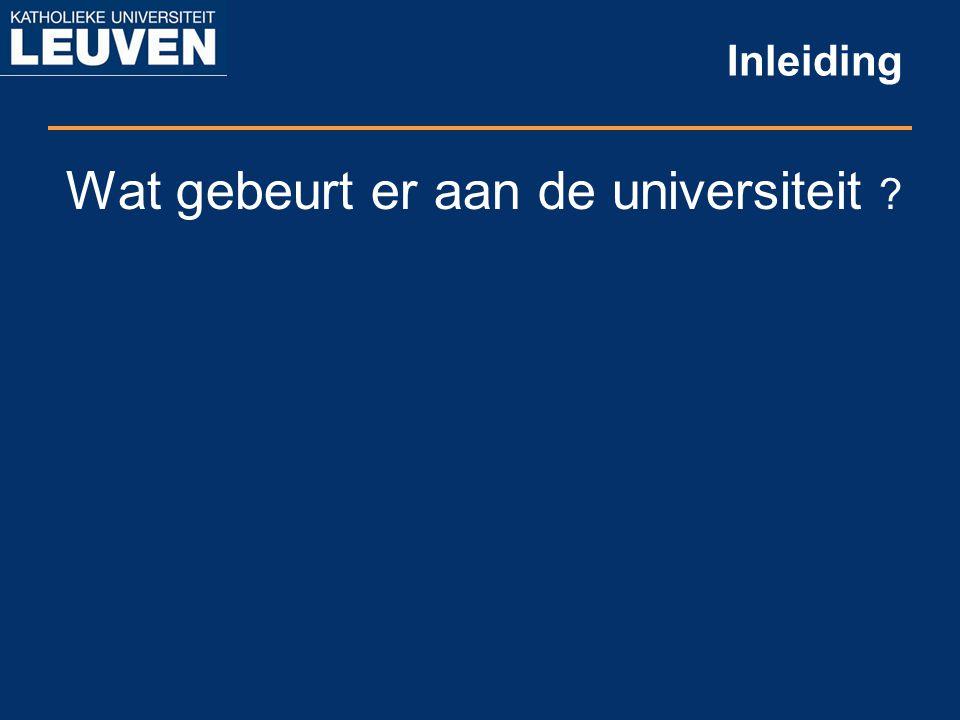 Inleiding Wat gebeurt er aan de universiteit ?