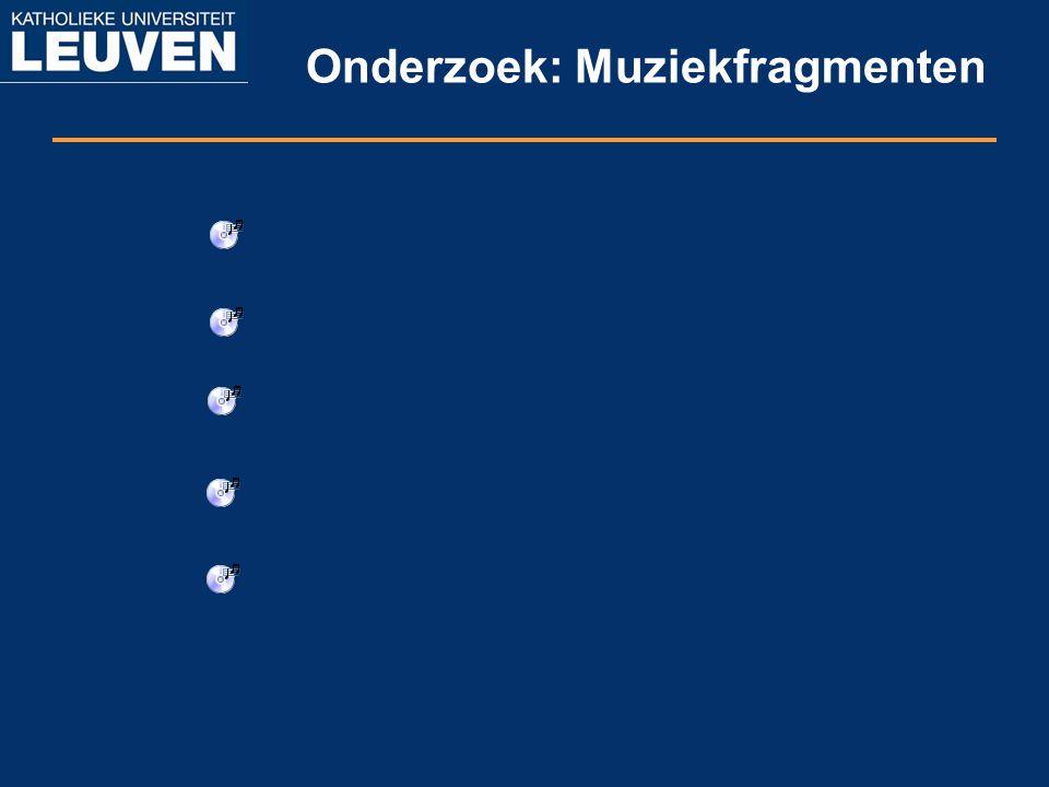 Onderzoek: Muziekfragmenten