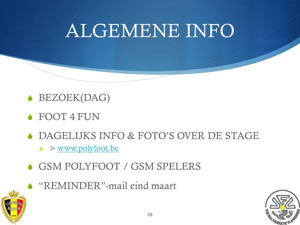 ALGEMENE INFO SPORTTAS IN ORDE .