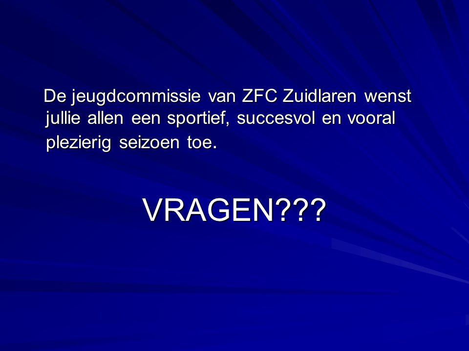 De jeugdcommissie van ZFC Zuidlaren wenst jullie allen een sportief, succesvol en vooral plezierig seizoen toe. De jeugdcommissie van ZFC Zuidlaren we