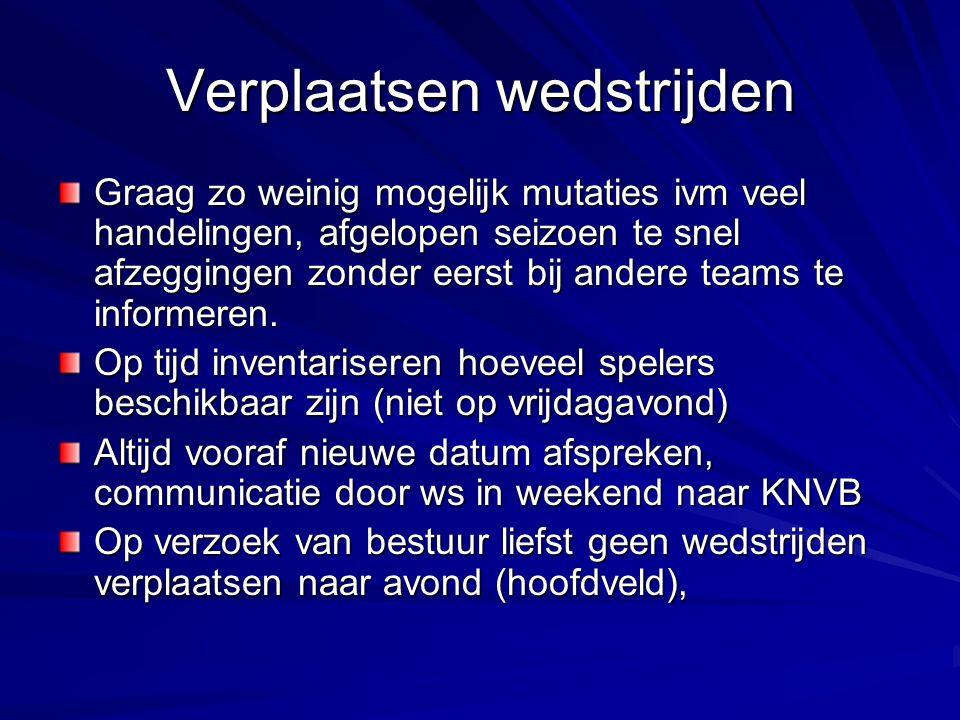 Afgelastingen Vrijdagmiddag via knvb.nl/nos teletekst pagina 603 Keuring velden consul op zaterdagmorgen – rond 7.30 uur.