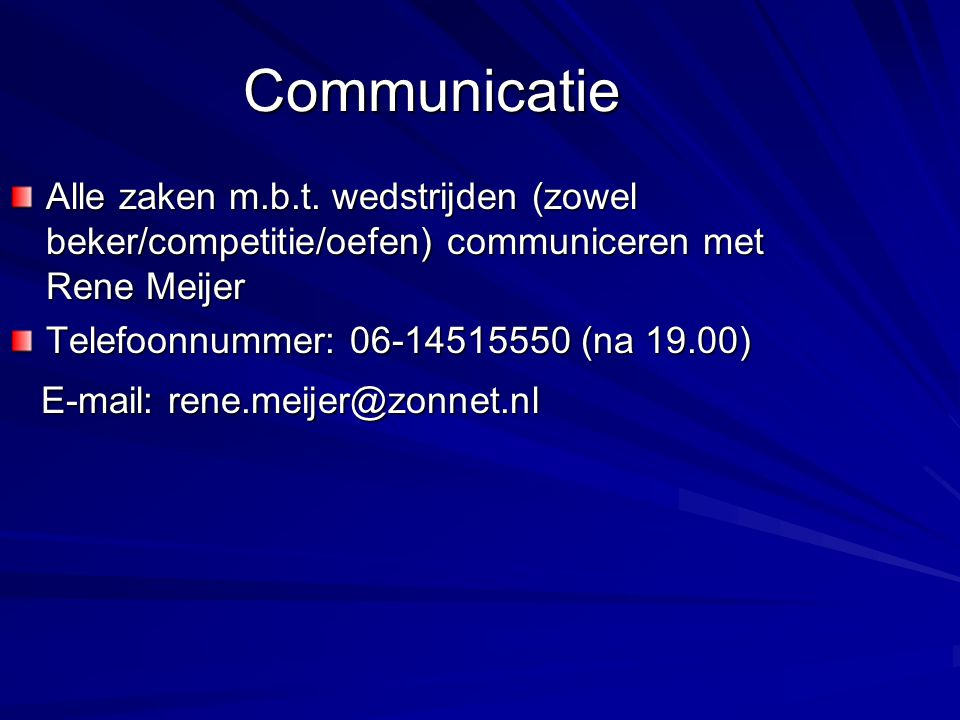 Communicatie Alle zaken m.b.t.