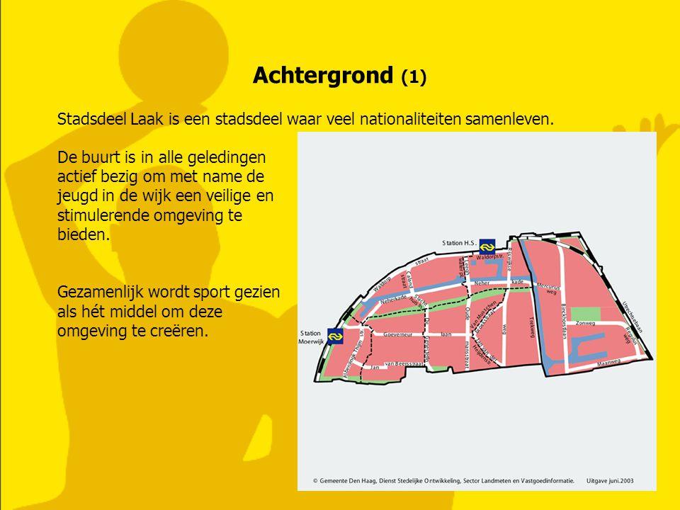 Achtergrond (1) Stadsdeel Laak is een stadsdeel waar veel nationaliteiten samenleven. De buurt is in alle geledingen actief bezig om met name de jeugd