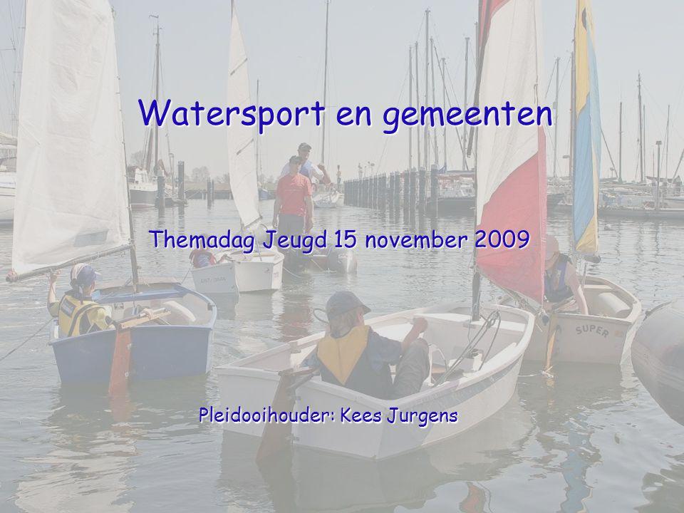 Watersport en gemeenten Themadag Jeugd 15 november 2009 Pleidooihouder: Kees Jurgens