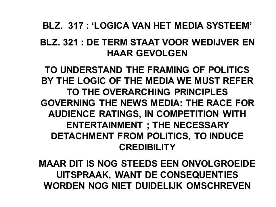 BLZ.317 : 'LOGICA VAN HET MEDIA SYSTEEM' BLZ.