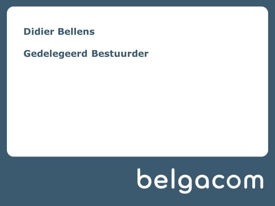 Didier Bellens Gedelegeerd Bestuurder