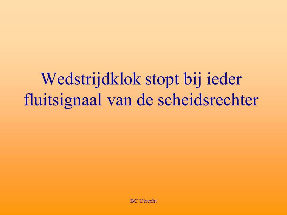 BC Utrecht Wedstrijdklok stopt bij ieder fluitsignaal van de scheidsrechter