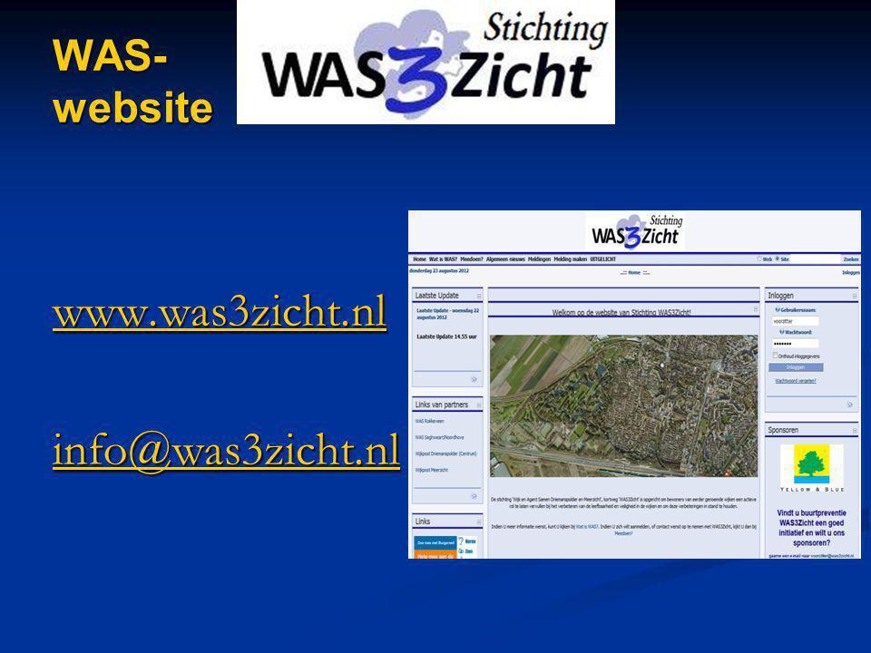WAS- website www.was3zicht.nl info@was3zicht.nl