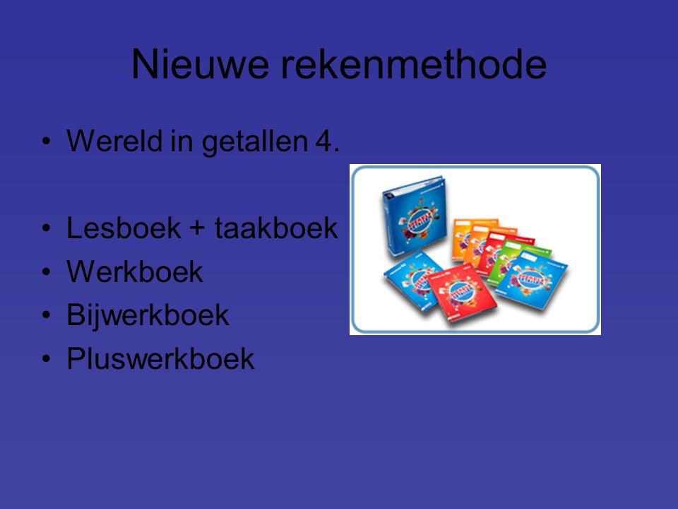 Nieuwe rekenmethode Wereld in getallen 4. Lesboek + taakboek Werkboek Bijwerkboek Pluswerkboek