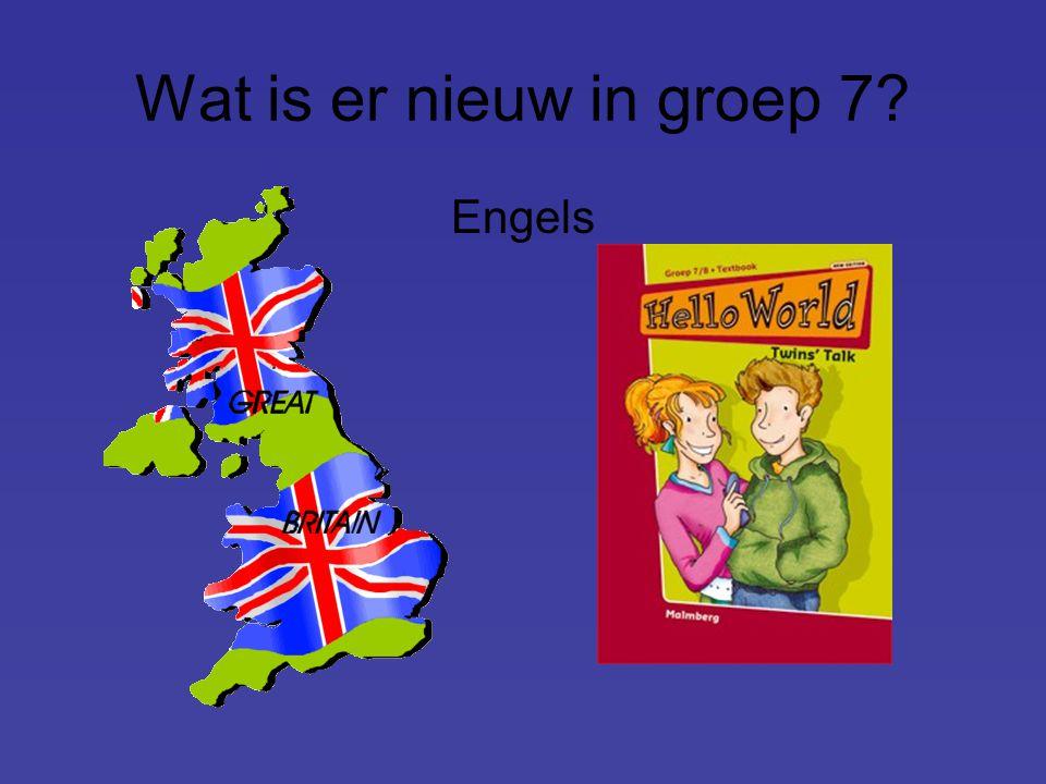 Wat is er nieuw in groep 7? Engels