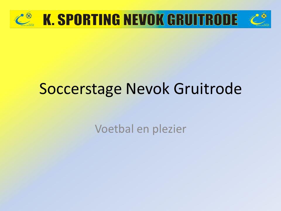 Soccerstage Nevok Gruitrode Voetbal en plezier
