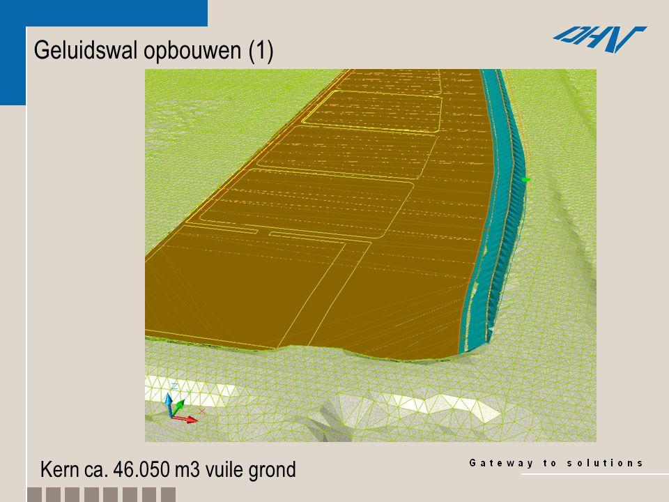 Geluidswal opbouwen (2) Deklaag ca. 15.200 m3 schone grond