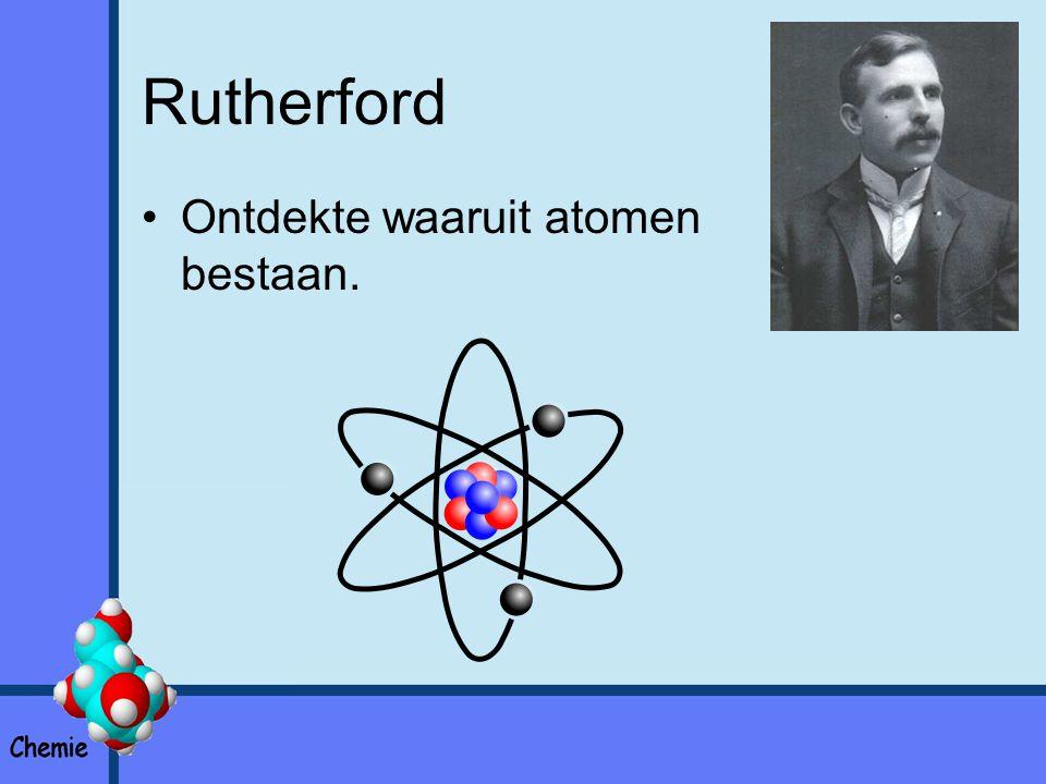 Atoommodel Atoom bestaat uit 3 deeltjes: –Protonen –Neutronen –Elektronen Protonen en neutronen vormen de kern van een atoom.