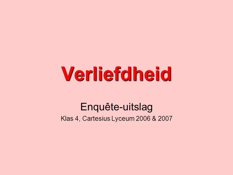 Verliefdheid Enquête-uitslag Klas 4, Cartesius Lyceum 2006 & 2007