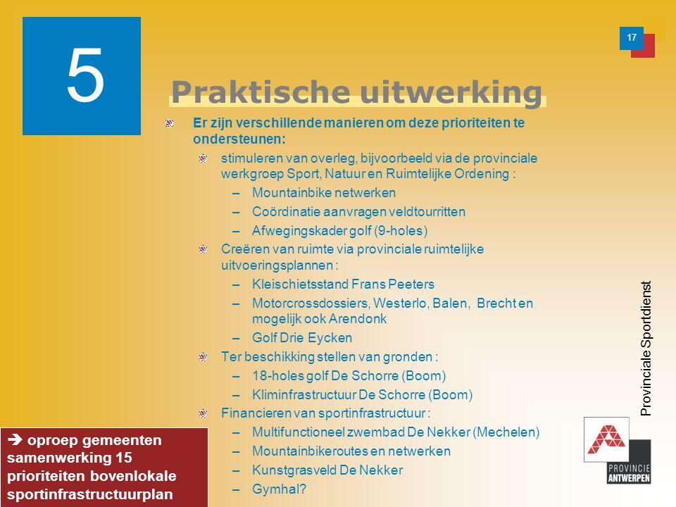 18 Provinciale Sportdienst Vragen tot samenwerking 1.