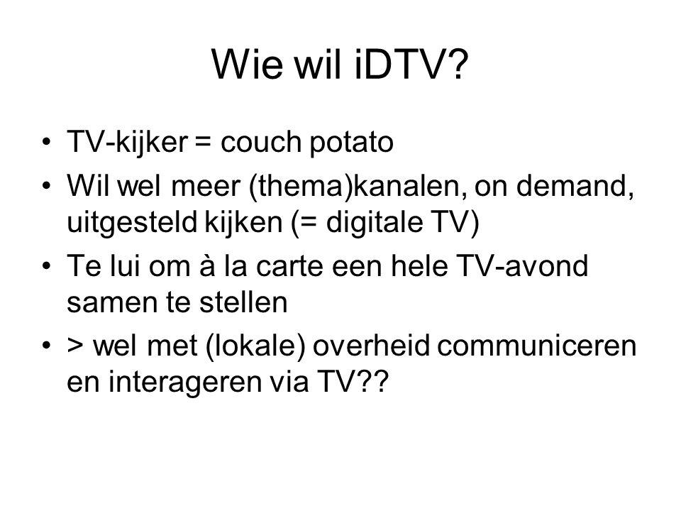 Wie wil iDTV.