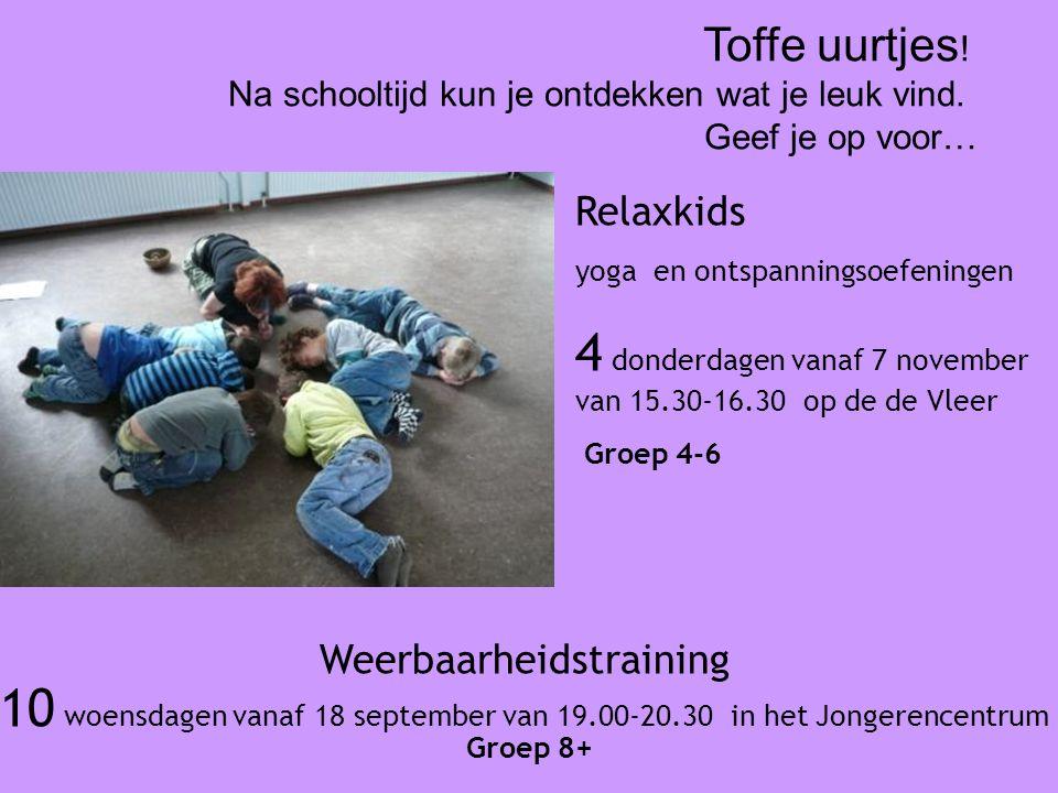 Weerbaarheidstraining 10 woensdagen vanaf 18 september van 19.00-20.30 in het Jongerencentrum Groep 8+ Toffe uurtjes .