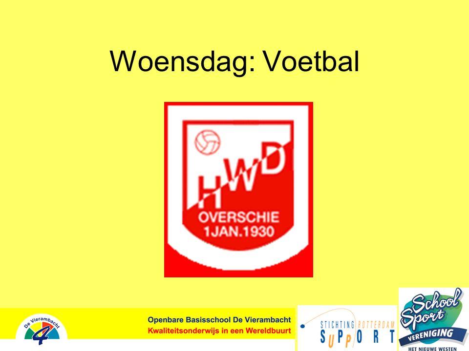 Woensdag: Voetbal