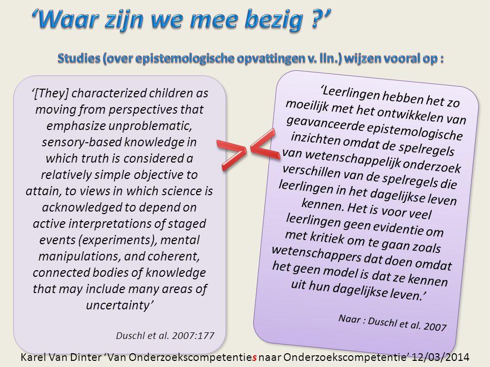 Hypothesen in de steigers… (II) Hulp ??.