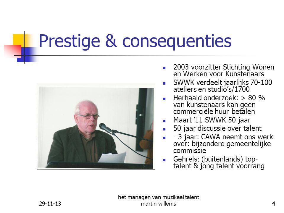 29-11-13 het managen van muzikaal talent martin willems5 Wie is hier een muzikaal (top) talent, hoe ontdekt en verder.