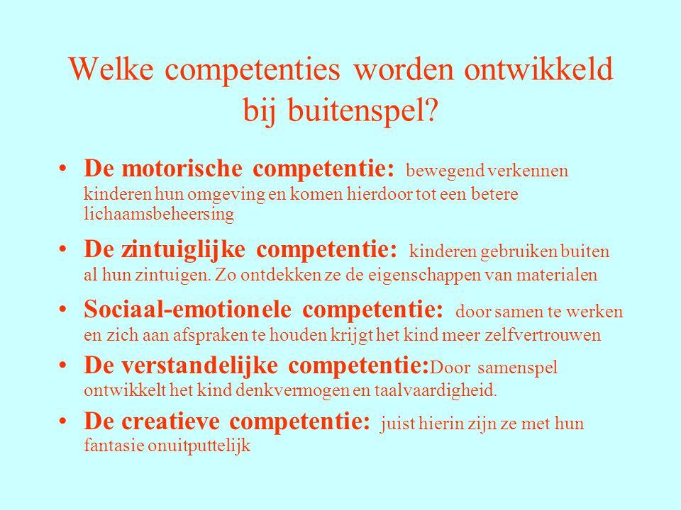 Welke competenties worden ontwikkeld bij buitenspel.