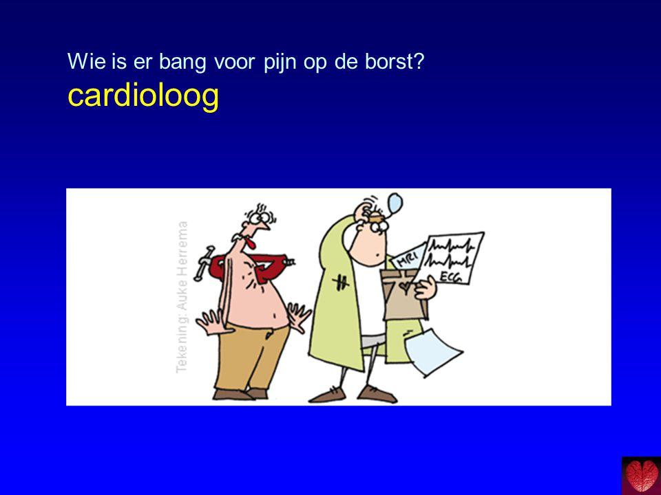 Veel pijn op borst ≠ veel laesies  25-45% CAD patiënten GEEN pijn op borst  Functionele beperkingen CAD patiënten hebben weinig associatie met coronair anatomie en gezondheidsstatus patiënt  VG van CABG, depressie en angst meer pijn op borst (ischemie meting dmv spect) Arnold et al, Circulation 2009;120: 126-133