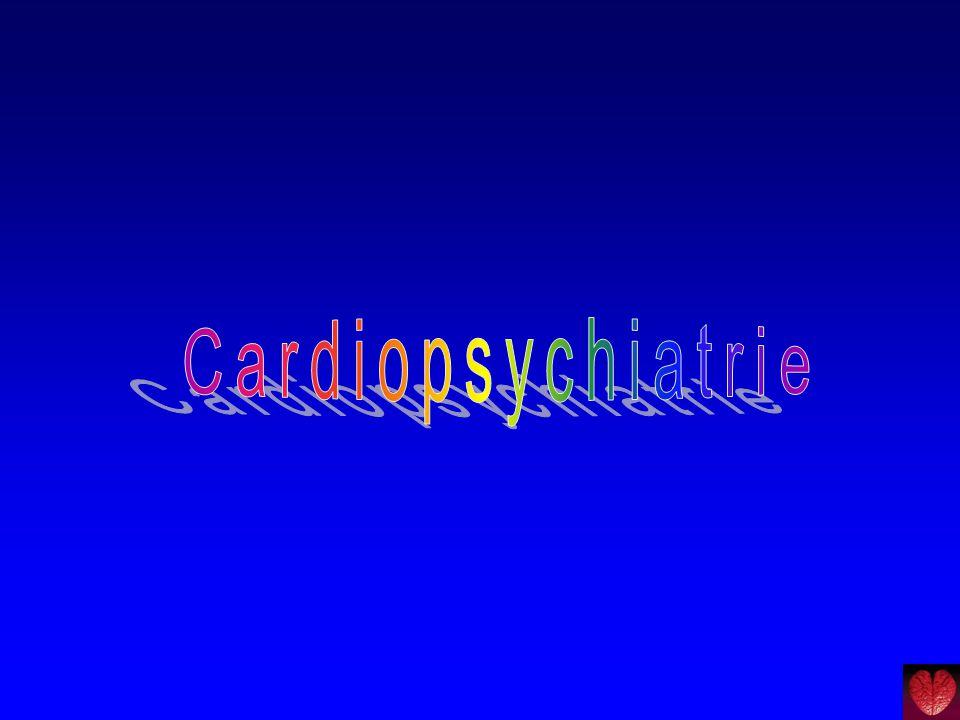 Depressie na hartinfarct  Komt voor bij ± 30% .