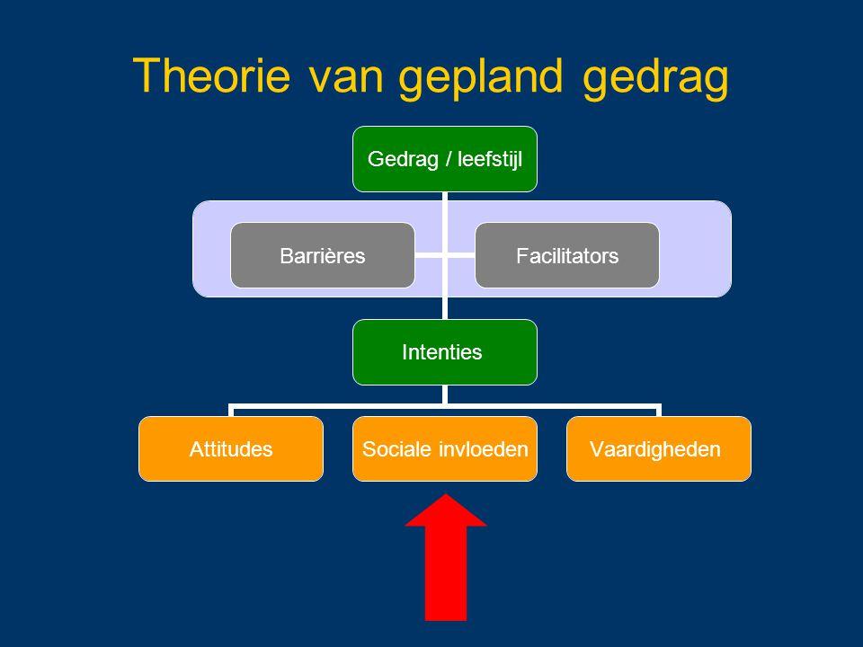 Theorie van gepland gedrag