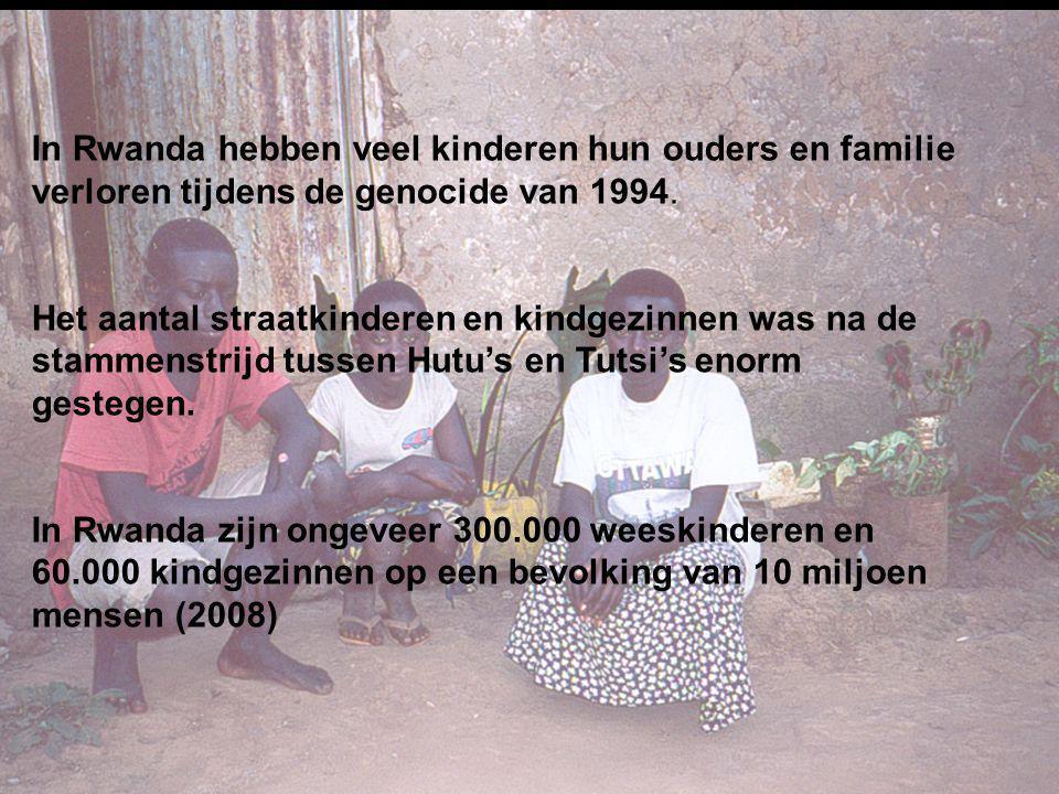 In Rwanda hebben veel kinderen hun ouders en familie verloren tijdens de genocide van 1994.