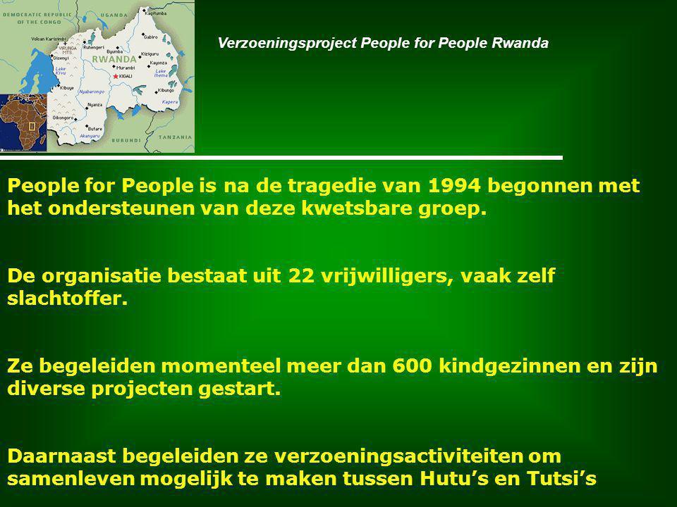 People for People is na de tragedie van 1994 begonnen met het ondersteunen van deze kwetsbare groep.